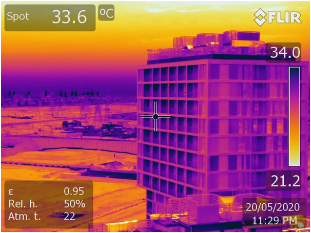 Building thermography Inspection for EHS-Trakhees Green Building Regulations Compliance